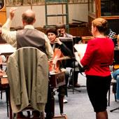 Studio B für kleinere Orchester- und Choraufnahmen